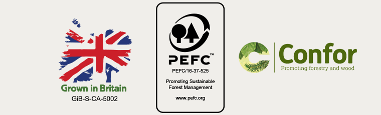 Grown in Britain, PEFC - Promoting Sustainable Forest Management, Confor - Promoting forestry and wood