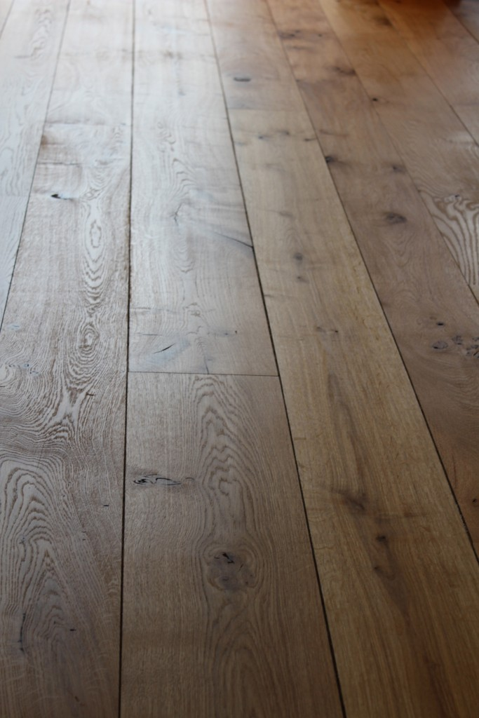 Solid barn grade English oak flooring