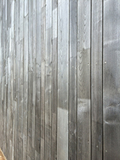 weathered jointed sweet chestnut cladding