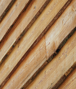 British larch cladding waney edge