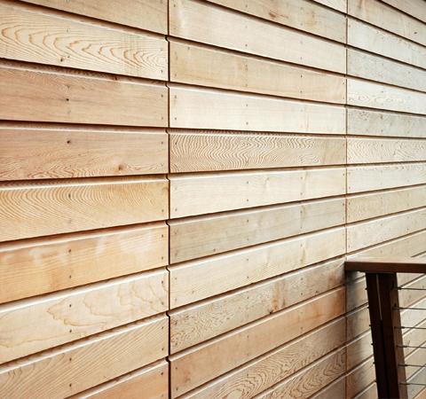 Canadian western red cedar cladding