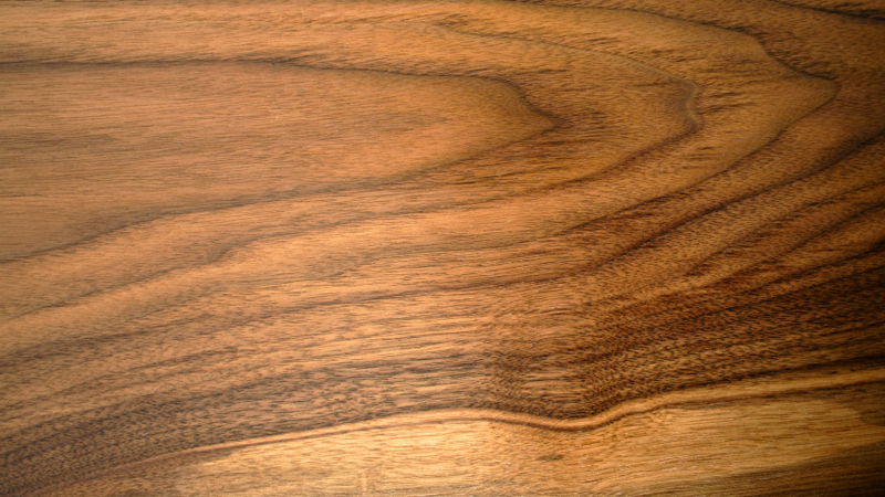 The distinctive grain of European walnut