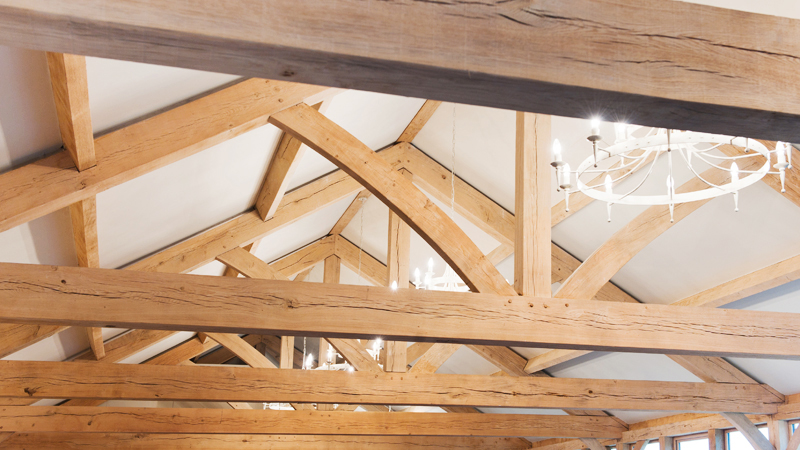 Traditional green oak trusses