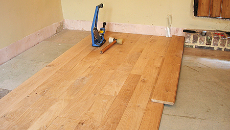 Laying a floor 2