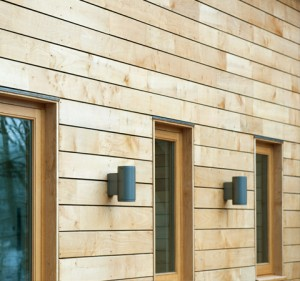 Splayed cladding