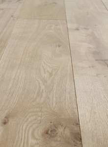Unfinished rustic oak engineered flooring