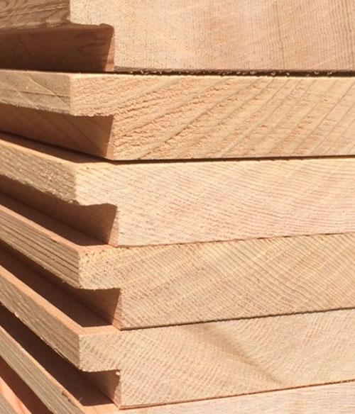 Canadian cedar cladding, halflap