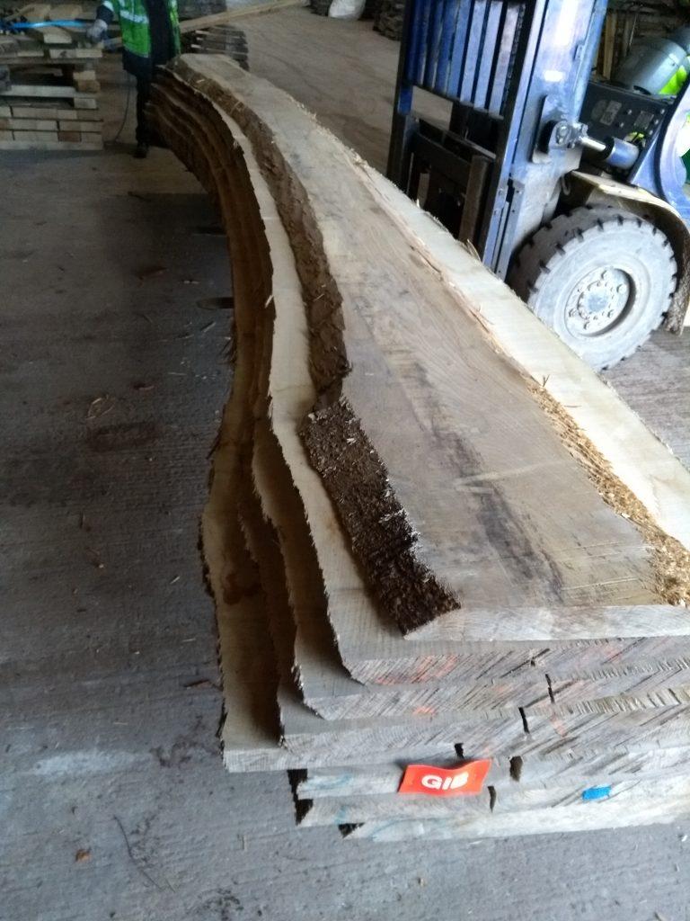 English Ash Curved log 40174