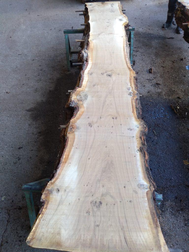 English Pippy Oak Log 00796 Fresh Sawn