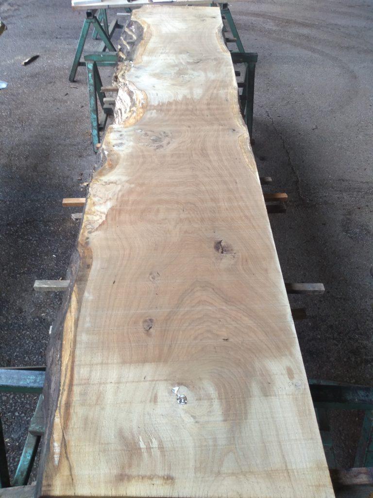 English Medium Pippy Oak Log 0324 Fresh Sawn