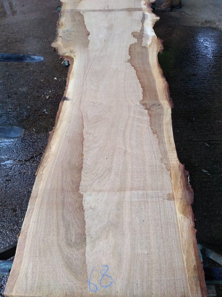 English Pippy Oak Log 09499 Fresh Sawn
