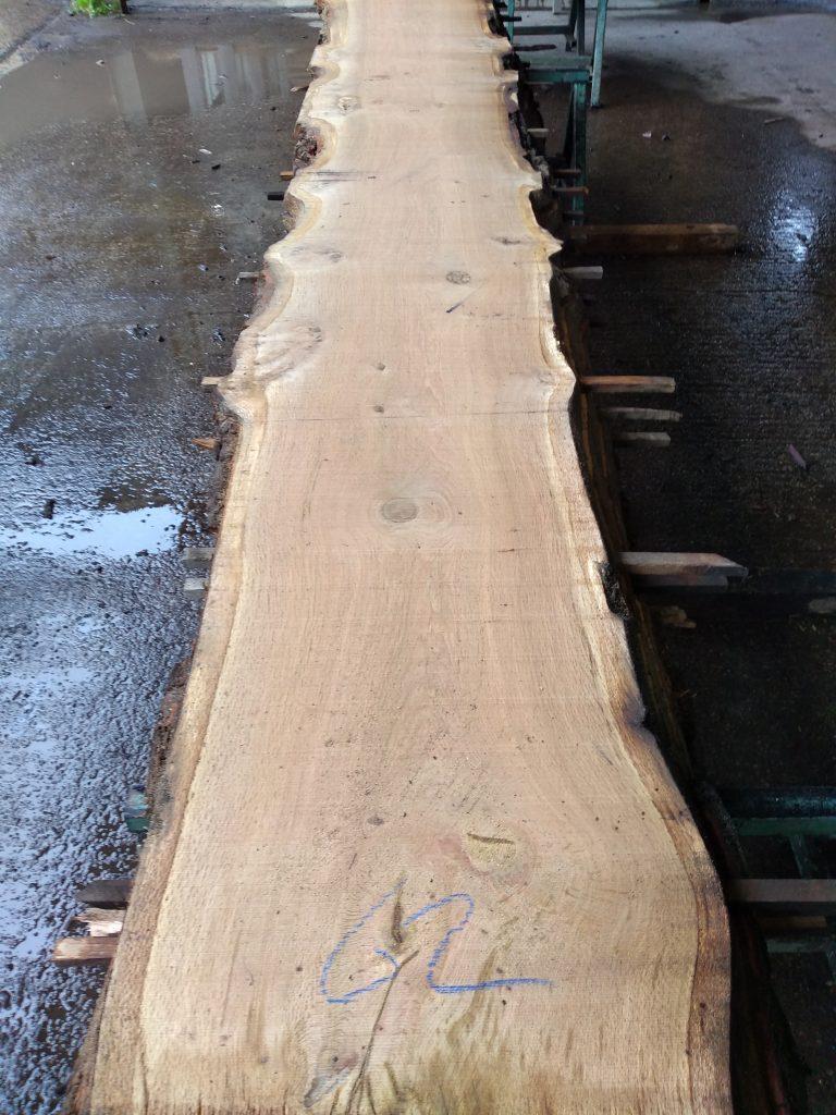 English Pippy Oak Log 00033 Fresh Sawn
