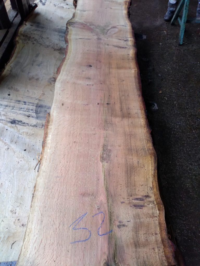 English Pippy Oak Log 04275 Fresh Sawn