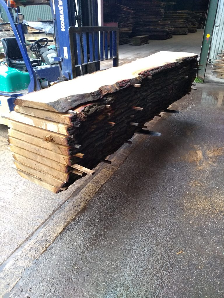 English Pippy Oak Log 60011 Fresh Sawn