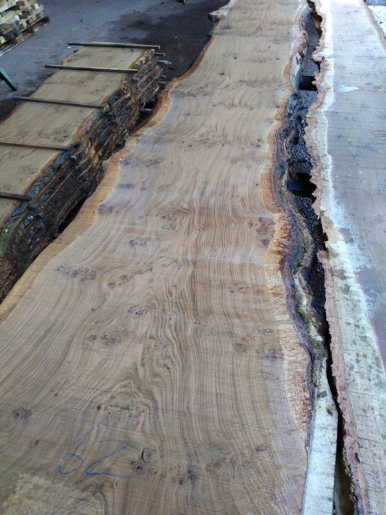 English Pippy Oak Log 2095 Fresh Sawn