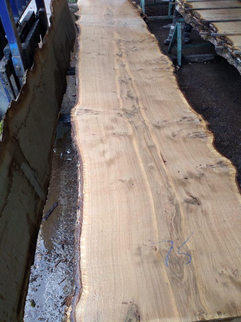English Pippy Oak Log 202747 Fresh Sawn