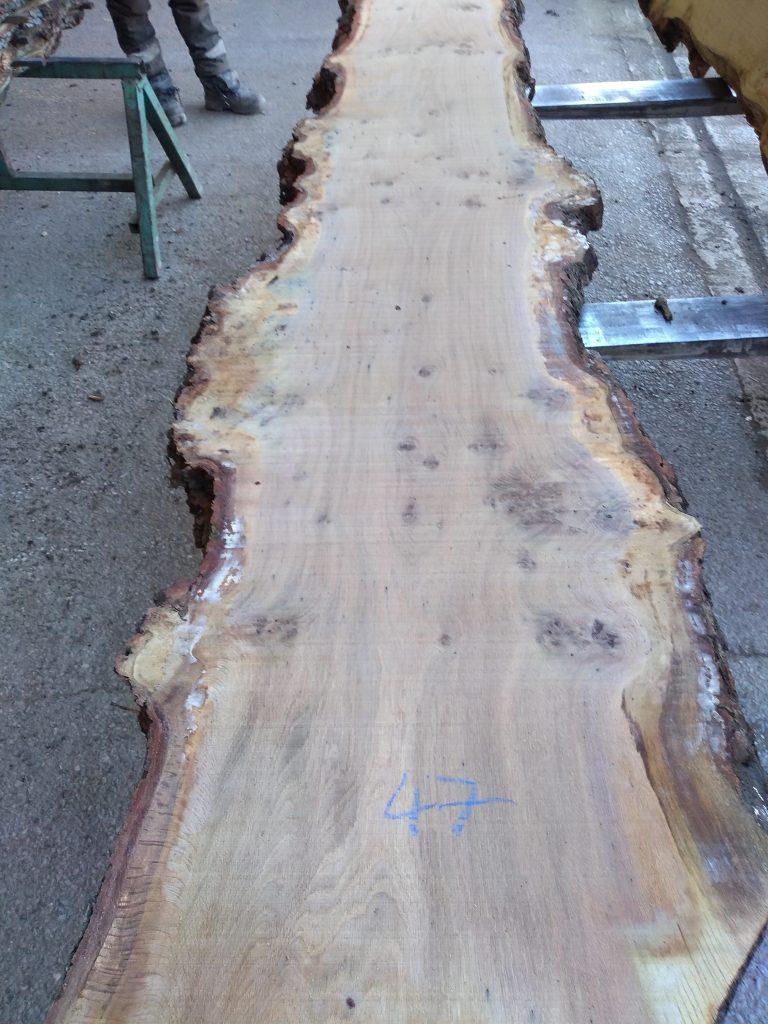 English Pippy Oak Log 9730 Fresh Sawn