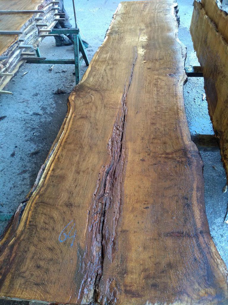English Brown Pippy Oak Log 4896 Fresh Sawn