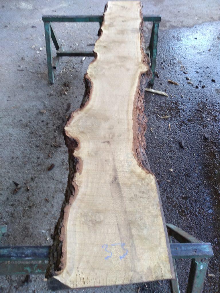 English Pippy Oak Log 09633 Fresh Sawn