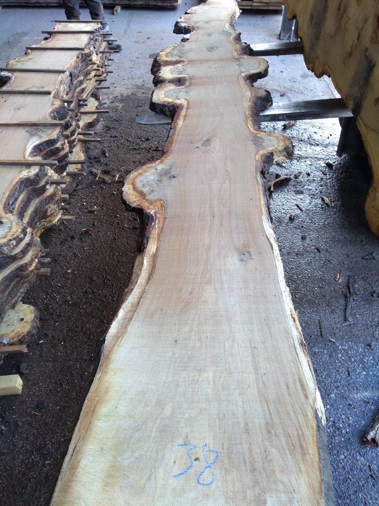 English Pippy Oak Log22 Fresh Sawn