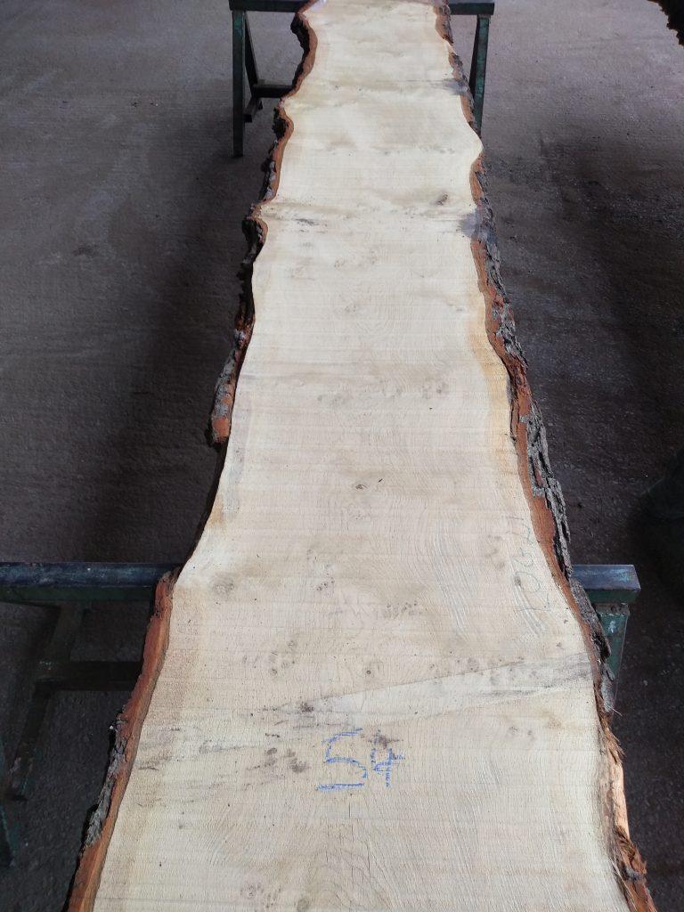 English Pippy Oak Log 03011 Fresh Sawn