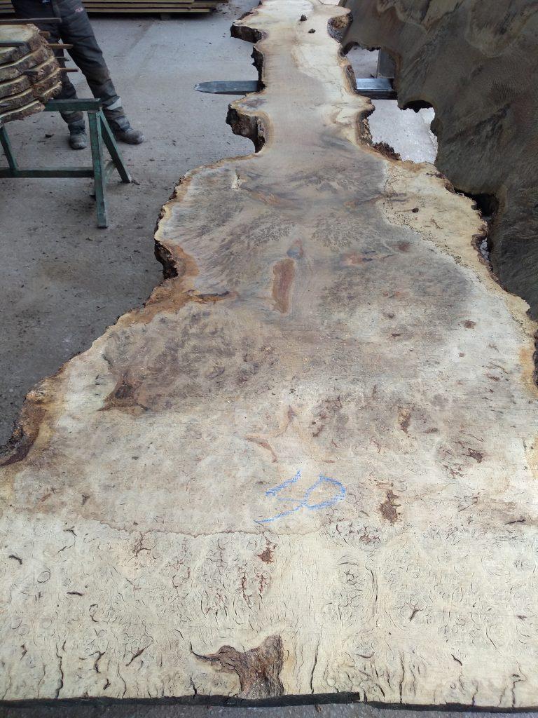 English Pippy Oak Log 03012 Fresh Sawn