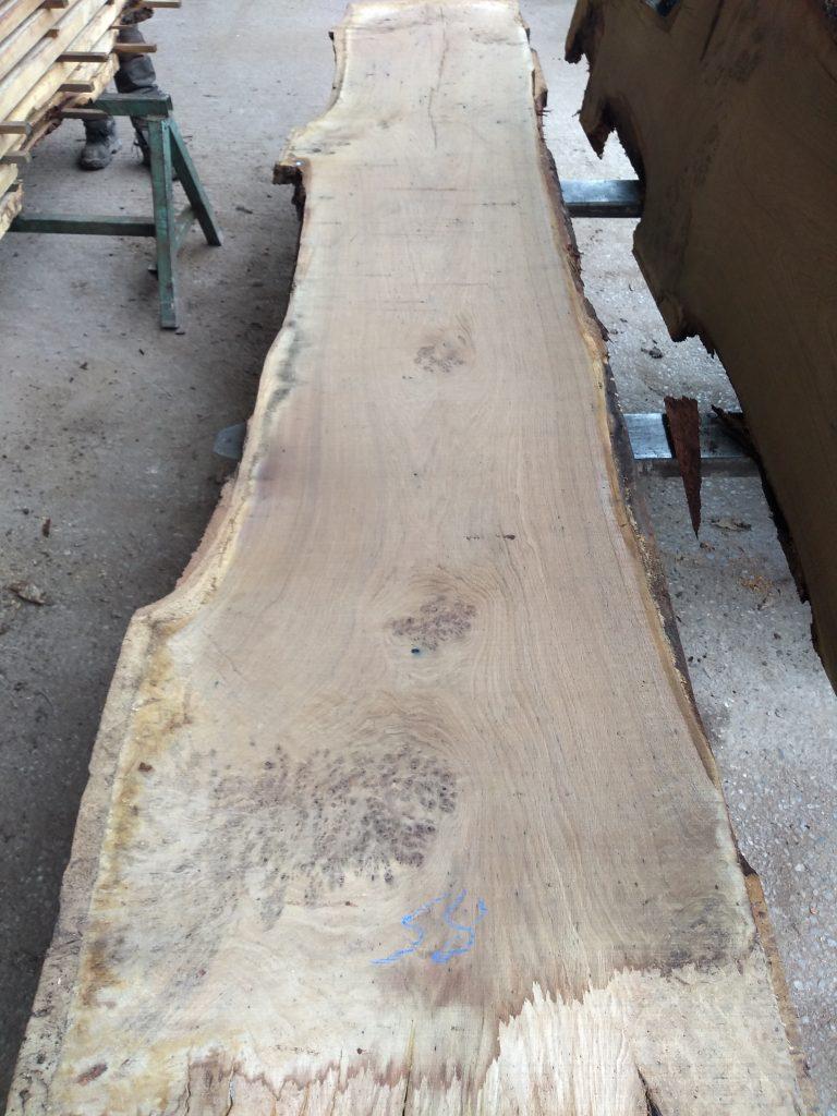 English Pippy Oak Log 03013 Fresh Sawn