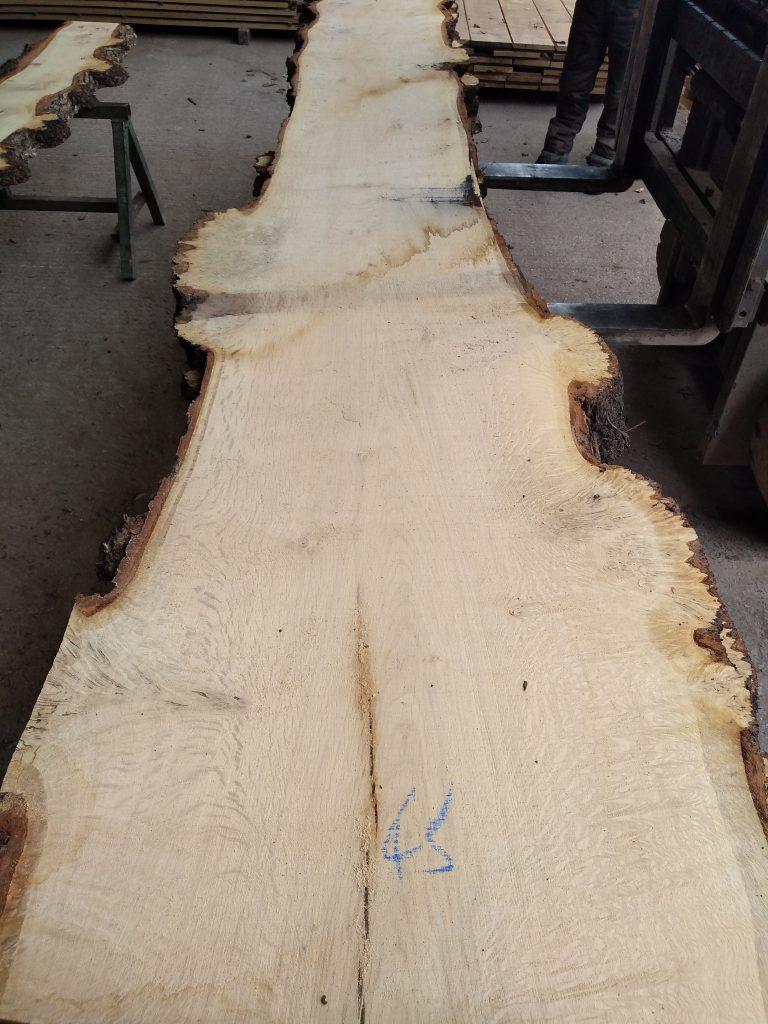 English Pippy Oak Log 04987 Fresh Sawn