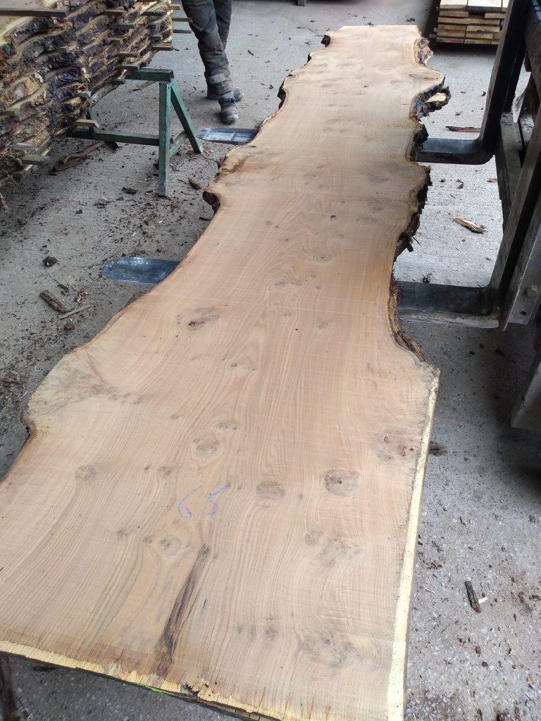 English Sweet Chestnut Log 3019 Fresh Sawn
