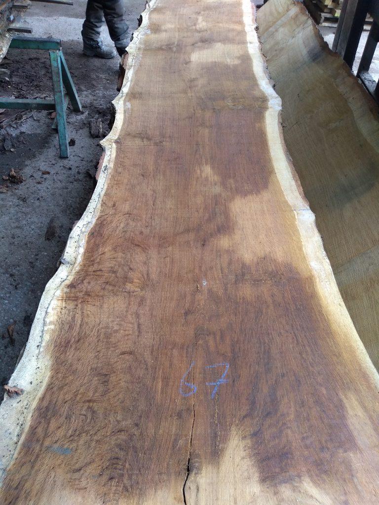 English Pippy Oak Log 3022 Fresh Sawn
