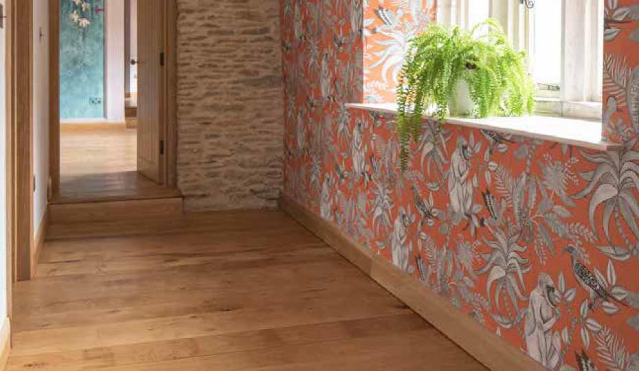 Solid English oak flooring