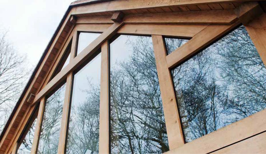 Seasoned oak beams
